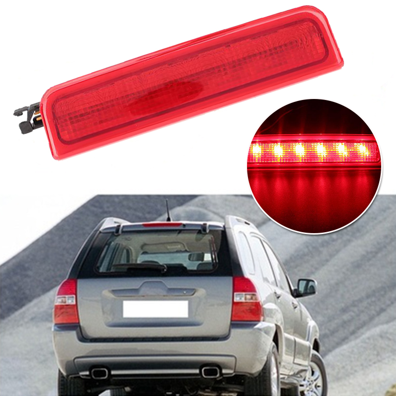 Auto Car Vehicle High Level LED Rear Brake Stop Light Lamp for VW Caddy 02-08 car rear trunk security shield cargo cover for volkswagen vw tiguan 2016 2017 2018 high qualit black beige auto accessories
