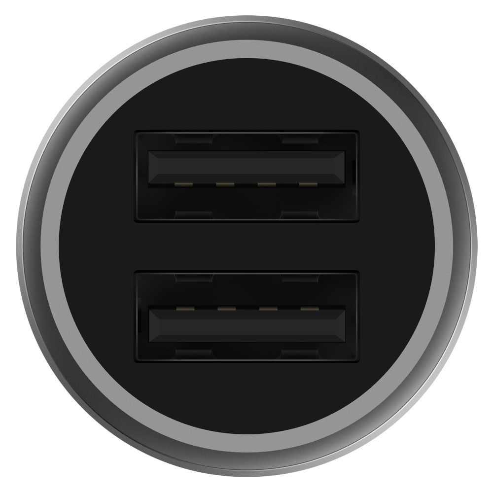 Cargador de coche USB doble Original Xiaomi carga de coche rápido 5 V/3.6A Volt Full Metal Compatible con Xiaomi para Samsung para iph Etc
