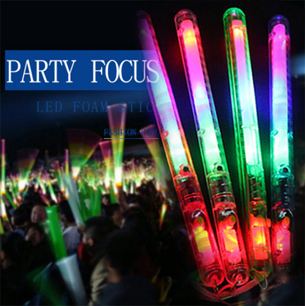 2018 New Multicolor Light-Up Blinking Rave Sticks LED Flashing Strobe Wands Concerts Party Glow 17 88