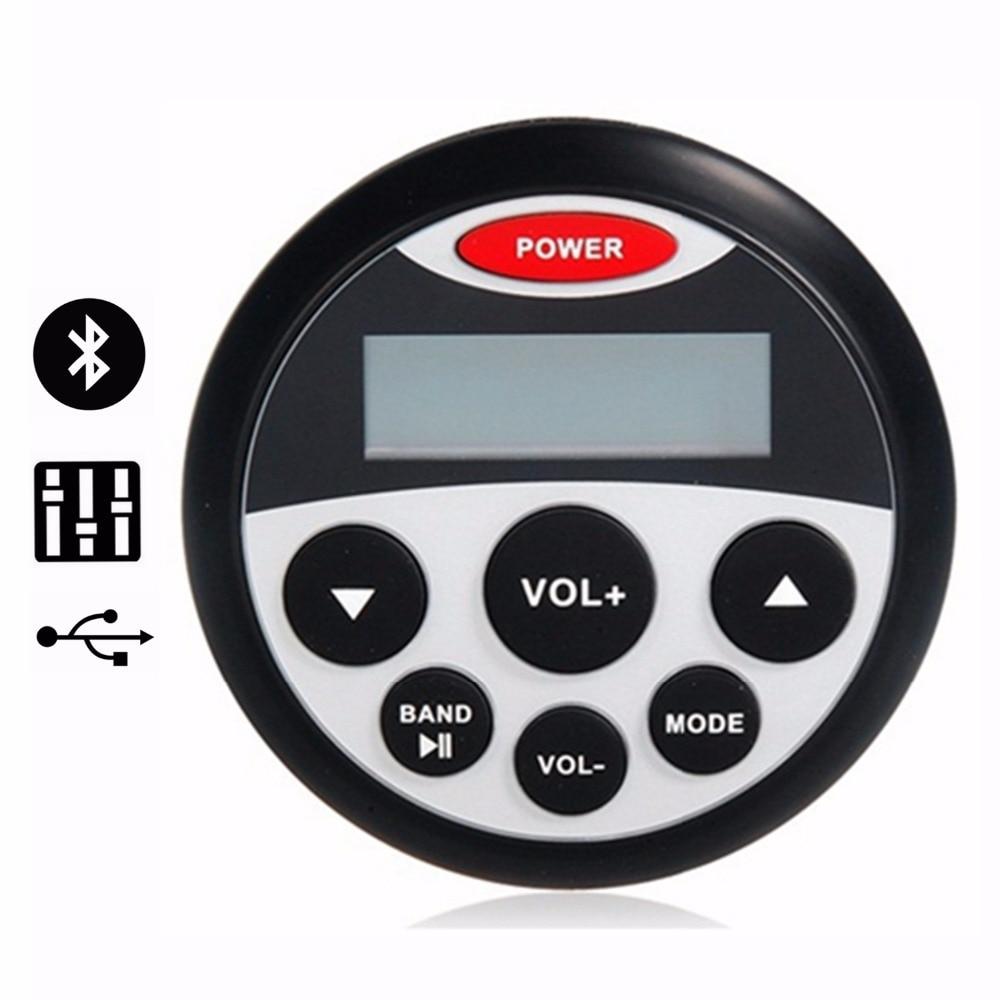 ФОТО Waterproof Marine Stereo Receiver Bluetooth Audio MP3 Player AM/FM Radio USB&AUX Input for ATV Motorcycle/Yacht /Sauna Room/SPA