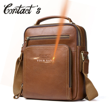 Contact's Men's Travel Bag Casual Men Messenger Bags High Quality Brand Genuine