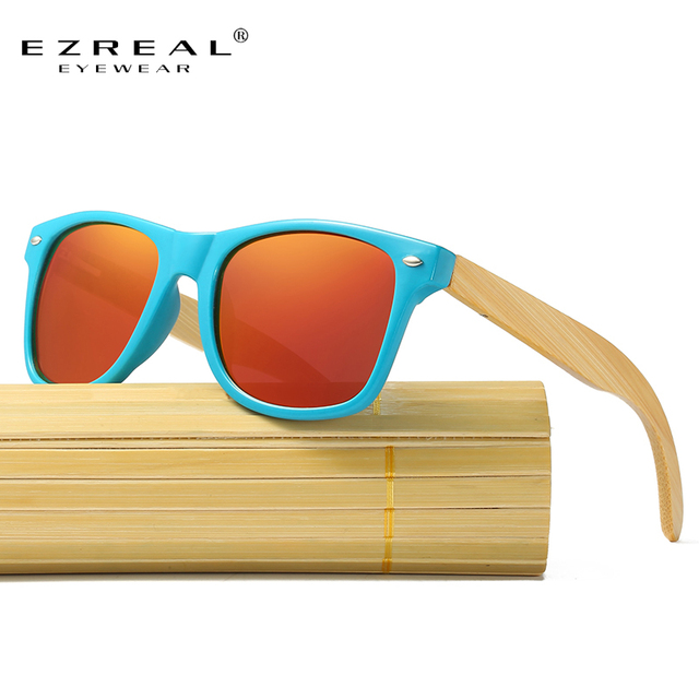 e4dbed899d EZREAL 2017 Retro Bamboo Wood Sunglasses Men Women Brand Designer Goggles  Gold Mirror Sun Glasses Shades