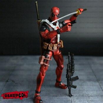Новый Лидер продаж! 16 см супер герой Лига Справедливости X-MAN Дэдпул фигурку игрушечные лошадки Рождество игрушка без коробки