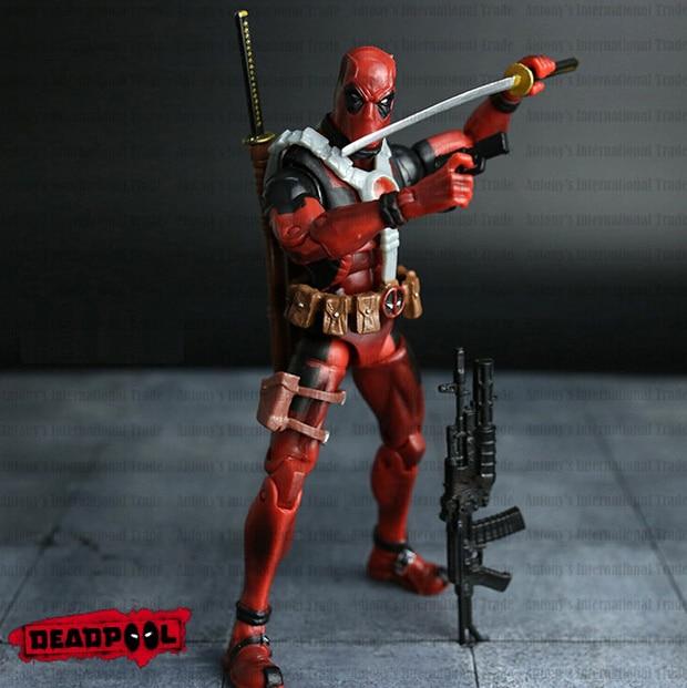 NEW hot! 16 cm Super herói da liga da Justiça Deadpool X-MAN action figure brinquedos de Natal brinquedo SEM CAIXA