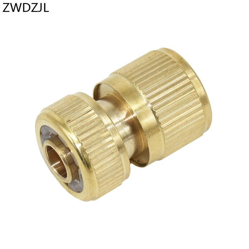 Brass 1/2 Hose Quick Connector Garden Tap Garden Irrigation 16mm Hose Connector Adapter 1pcs