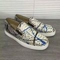 2016 genuine leather loafers Spring Fashion rivet Men Casual Shoes Snakeskin Shoes Man Flat Shoes