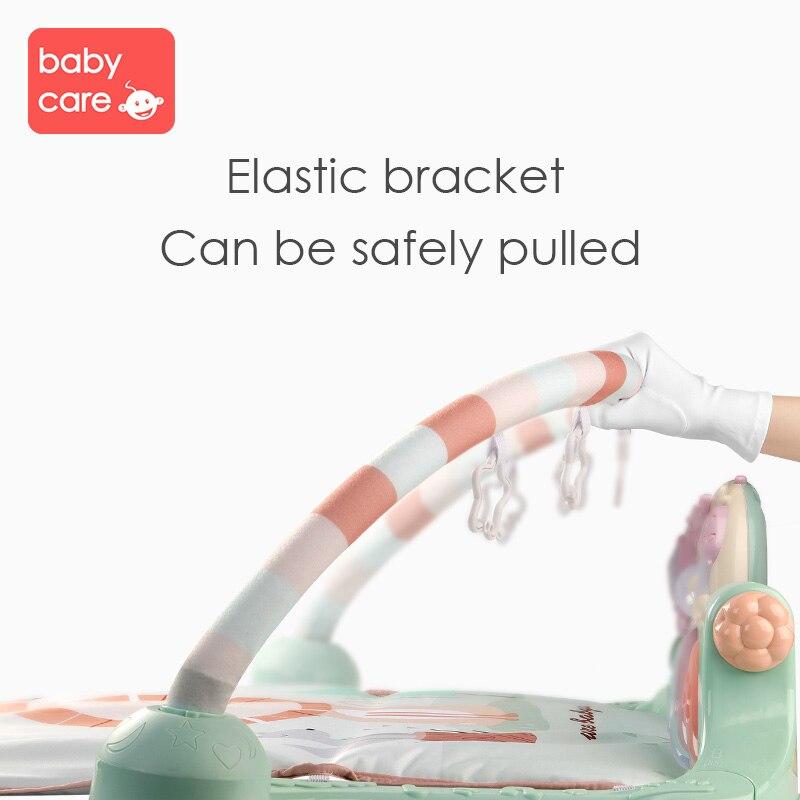 Tapis de jeu pour bébé cadre de Fitness pour bébé Piano à pied enfant ramper musique jouer jeu développement Pad bébé néonatal jouet de musique intellectuelle - 3