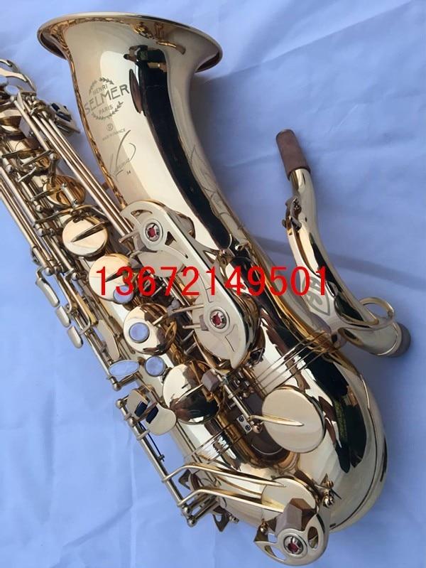 Hot France Selmer 54 B flat Sax Tenor saxophone high-grade gold Tenor music quality assurance free shipping free shipping france saxophone instrument selmer b flat tenor sax wind antique bronze tube bag mail reed