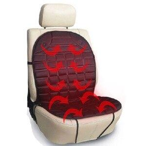 Image 4 - 12 12v温水カーシートクッションカバーシート、ヒーターウォーマー、冬の家庭用クッションcardriver加熱されたシートクッション