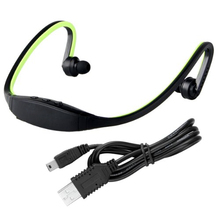 USB 2.0 Mini Sport Headset Music MP3 Player Support 16GB Micro SD TF
