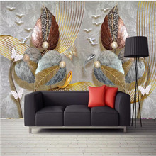 Custom wallpaper high-end home decoration gold foil retro background wall painting mural