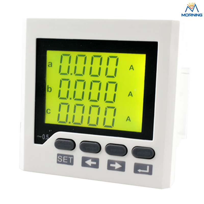 3AA7Y  80*80mm factory price three phase current meters with LCD display ac digital amphere meter fortisflex ксс 3 80