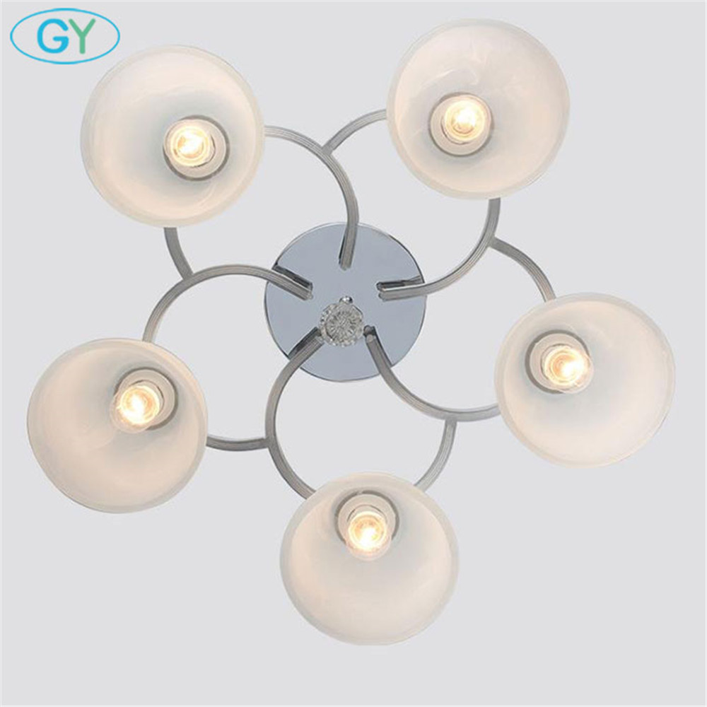 New modern ceiling lights 1/3/4/5/6/8 glass lampshades lamps living room bedroom kitchen ceiling lighting home chandelier lamp