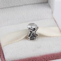 ZMZY New Arrival Authentic 925 Sterling Silver Charm Windmill Beads Fit Original Pandora Bracelet Bangle DIY Jewelry