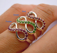 Solid 925Sterling Silver Infinity Friendship Ring