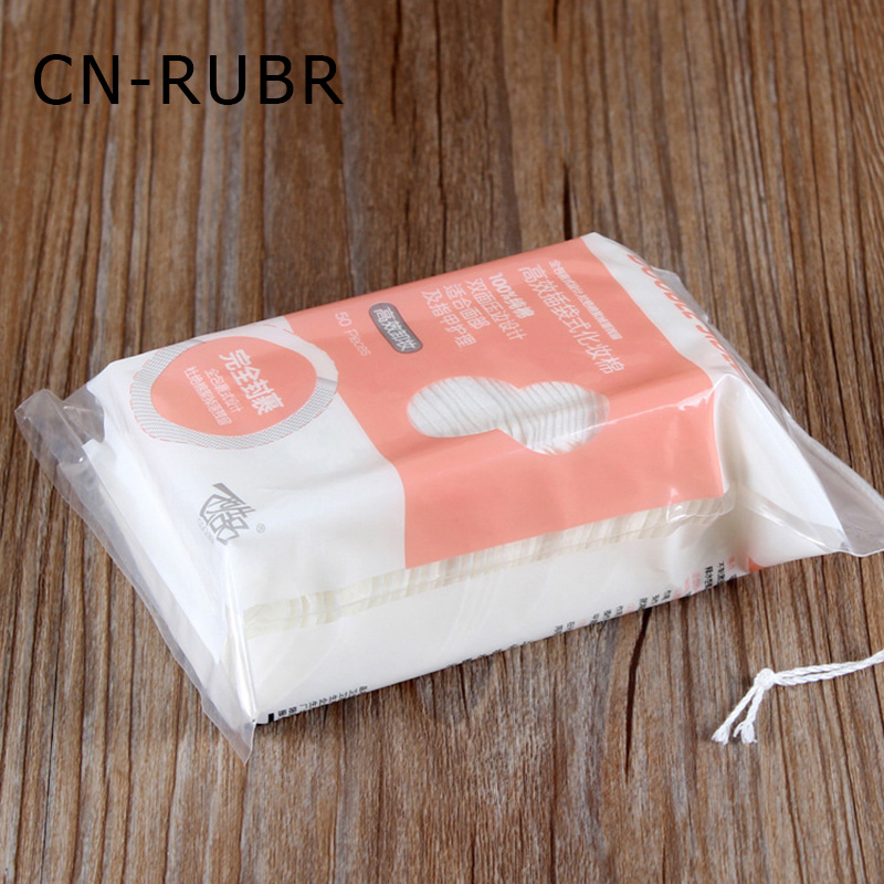 CN-RUBR 50pcs/Lot Cosmetic Remover Cotton Fashion Mini Portable Makeup Cleanser Woemen Beauty Face Wipes Cotton Healthy