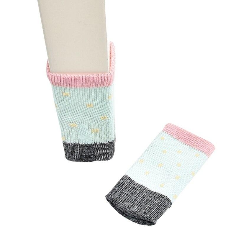 4pcs/set New Cotton Furniture Leg Socks Chair Table Leg Protector Pads Chair Leg Floor Protectors