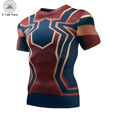 Raglan Sleeve Spiderman 3D Printed T shirts Men Compression Shirts 2019 Summer NEW Cosplay Costume Tops For Male Fitness Cloth