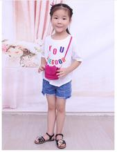 So Cute Children PU Leather Cat bag Kids Shoulder Messenger Bag Girl Coin Mini Purses Toddler Wallet