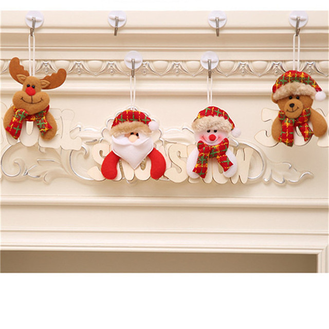 new arrival christmas ornaments gift santa claus snowman tree toy doll hang decorations wholesale free shipping