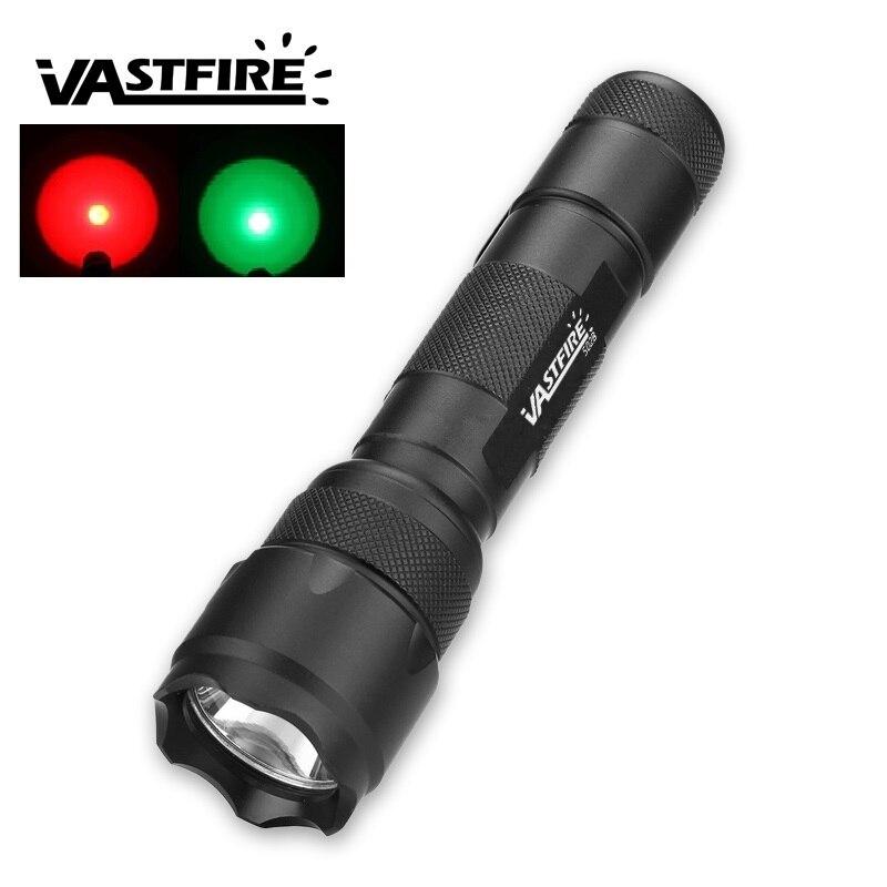 VastFireトーチハンティングライト350LM 2明るい色の赤/緑のハンティングトーチハンティングに使用できます