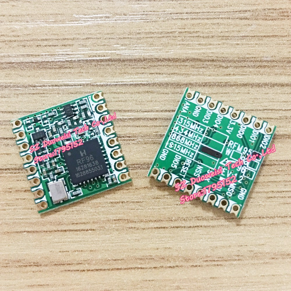 RFM95 RFM95W 868 915 RFM95-868MHz RFM95-915MHz LORA SX1276 wireless transceiver module Best quality in stock factory wholesale 2pcs wireless transceiver sx1276 1278 module rs232 rs485 interface lora spread spectrum 915mhz with antenna