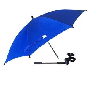 Image 3 - Wózek Parasol przenośny dziecko kolorowe wózek cień Parasol do wózka 360 stopni regulowany składany wózek yoya akcesoria