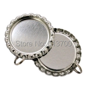 Sliver Both Side Colored Flattened Bottle Caps For Crafts Jewelry Metal Crown Cap Dome Beer Cap