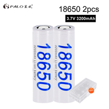 PALO Original 18650 battery 3.7V 3200mAh 18650 Lithium-ion Rechargeable Battery For Flashlight Electronic Cigarette batteries beacon 18650 3200mah rechargeable battery black 2 piece pack