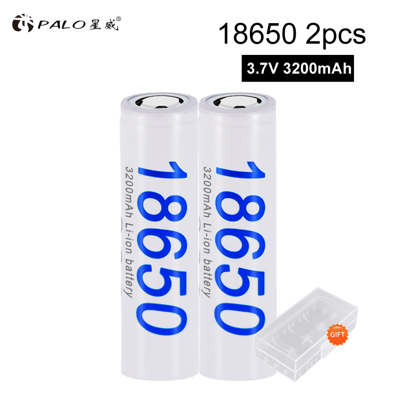 PALO Original <font><b>18650</b></font> battery 3.7V 3200mAh <font><b>18650</b></font> Lithium-ion Rechargeable Battery For Flashlight Electronic Cigarette batteries image