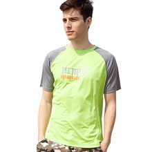 mens summer Outdoor short Sleeve T Shirt Men Coolmax Breathable Quick Dry Sport Running hiking tees Fitness T-Shirt TS3065