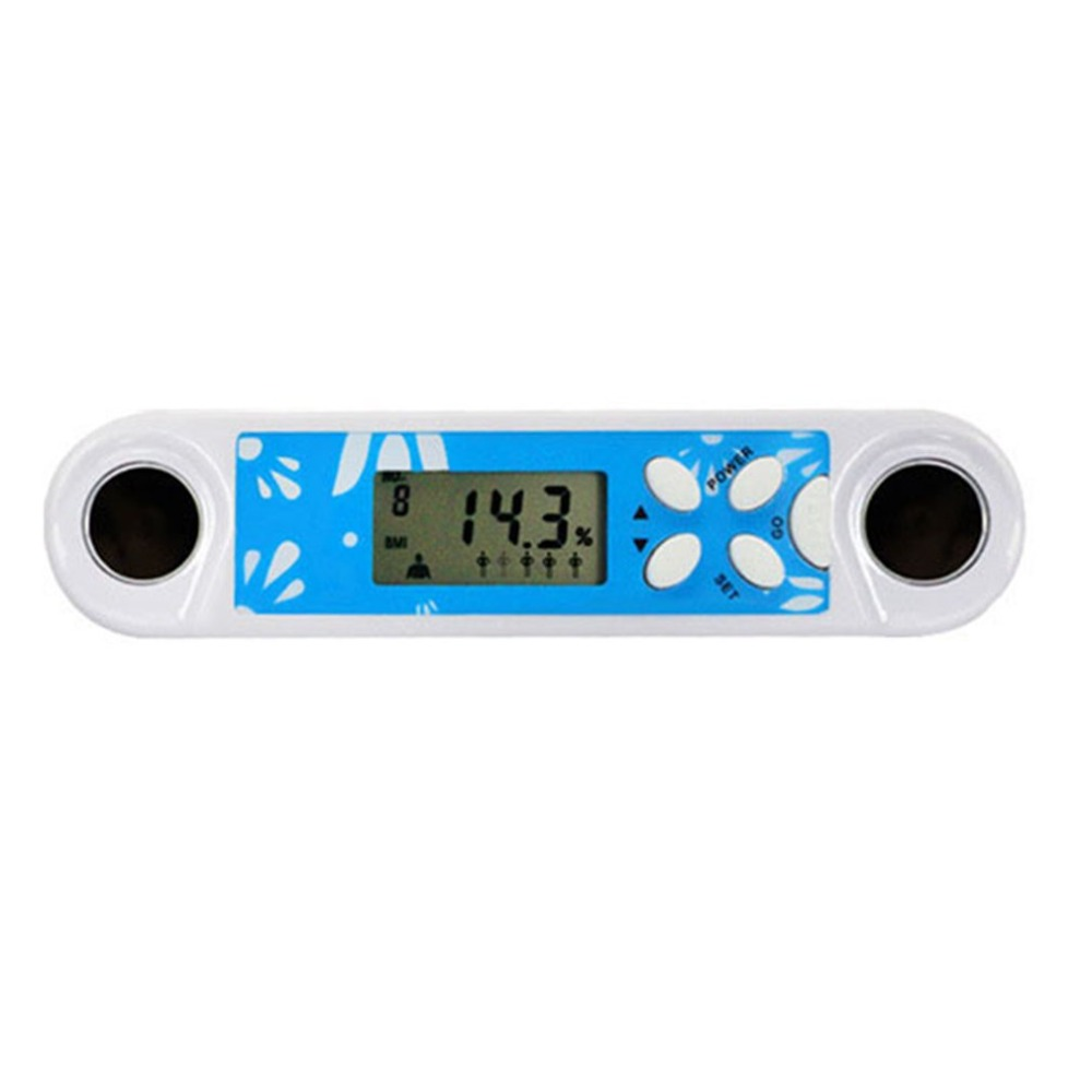 Multifunction Fat Tester Adipose Body Fitness Measuring Instruments Mini Portable Digital Fat Analyzer with Clock Function 2 in 1 digital pedometer with fat analyzer