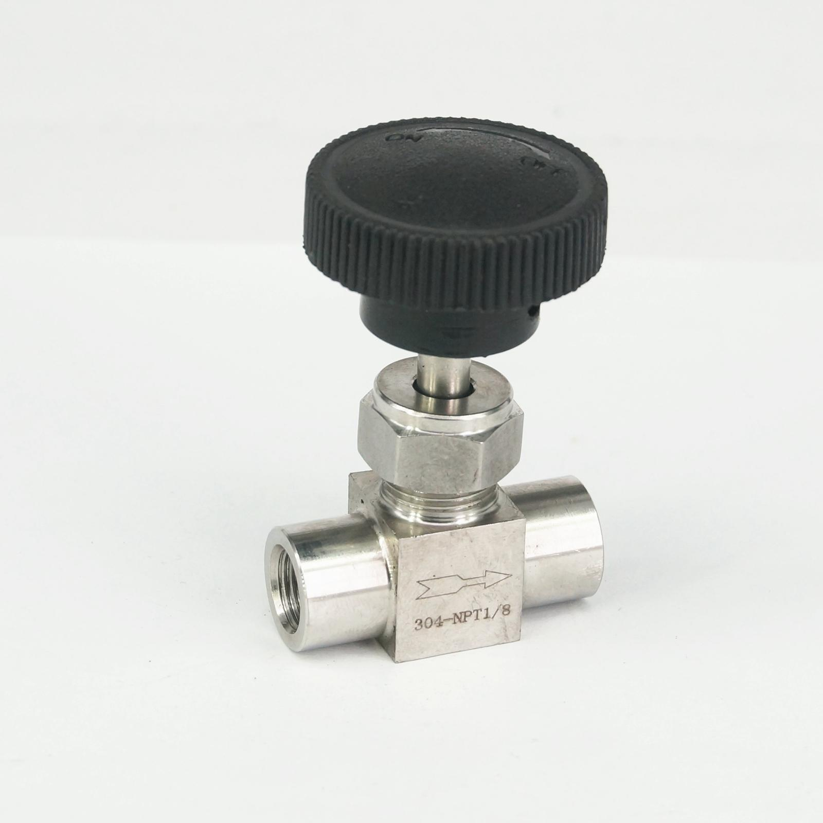 1/8 NPT Female Needle Valve 304 Stainless Steel Water Gas Oil Flow Control