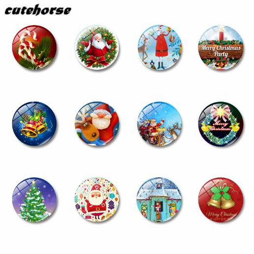 CUTEHORSE 12pcs/set hot sales cartoon series Christmas decorations image fridge magnets tape whiteboard glass magnetic stickers