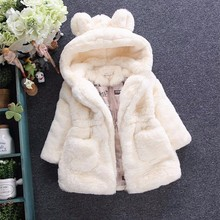 2017 Winter Baby Girls Clothes Faux Fur Fleece infant Coat Pageant Warm kids Jacket Xmas Snowsuit 1-7Y Outerwear enfant children