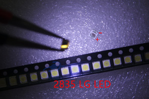 Image 4 - 500 יח\חבילה 3528 2835 3V SMD LED חרוזים 1W LG 100LM קר לבן עבור הטלוויזיה LCD תאורה אחורית