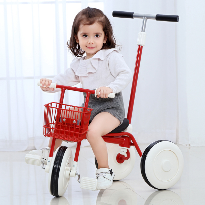 Infant Shining Children Tricycles Dual-purpose tricycle Bicycles Portable Wheel barrows 2-5 Years Old Pedal Children's Cars