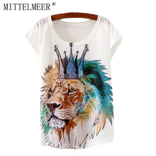 2017 Brand New Polyester Cotton T Shirt Women Short Sleeve t shirts o neck Causal loose