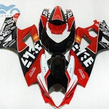 Индивидуальные мотоцикл обтекатель набор для SUZUKI 2007 2008 GSXR1000 K7 гоночный Спорт обтекатели комплект 07 08 GSXR 1000 запасные части корпуса