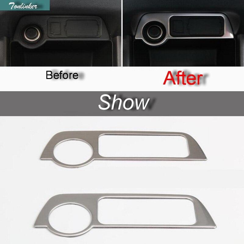 Tonlinker 1 buc Styling masina de bricolaj din oțel inoxidabil panou - Accesorii interioare auto