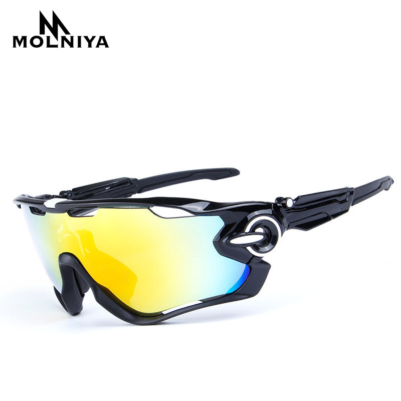 MOLNIYA 3 Lens Polarized Sunglasses Interchangeable Lenes for Men Women Climbing Driving Golf Eyewear UV400 Protection Glasses