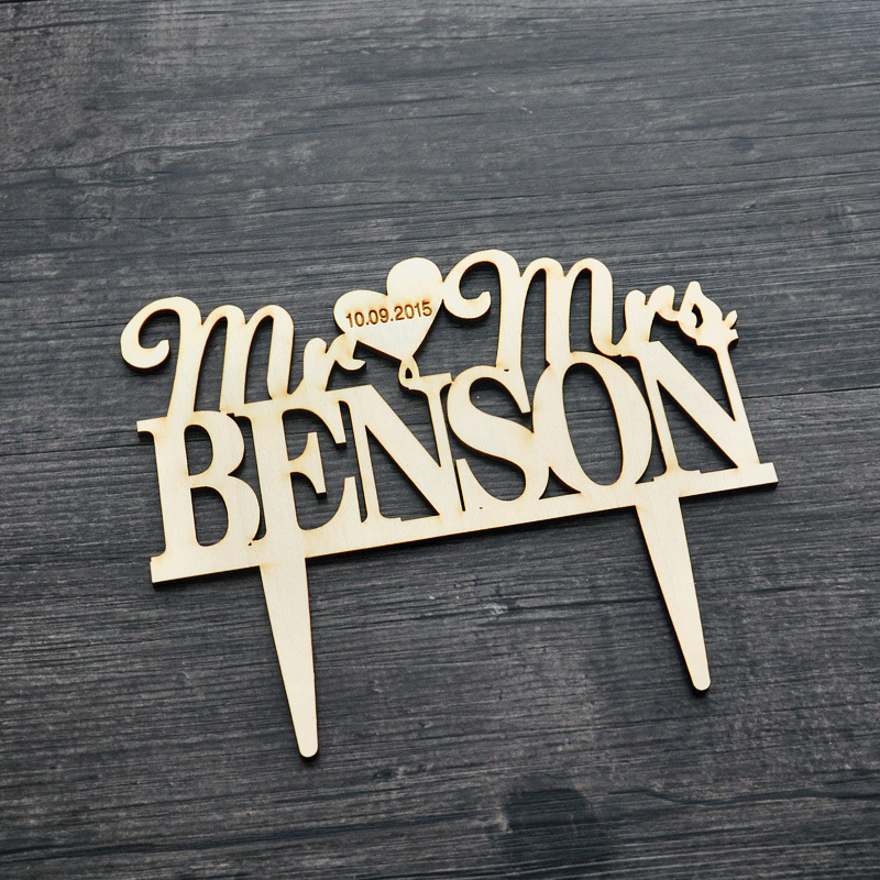 Rustic Wedding Cake Topper - initials Cake Topper Mr and Mrs Wedding Cake Topper Cake Decor