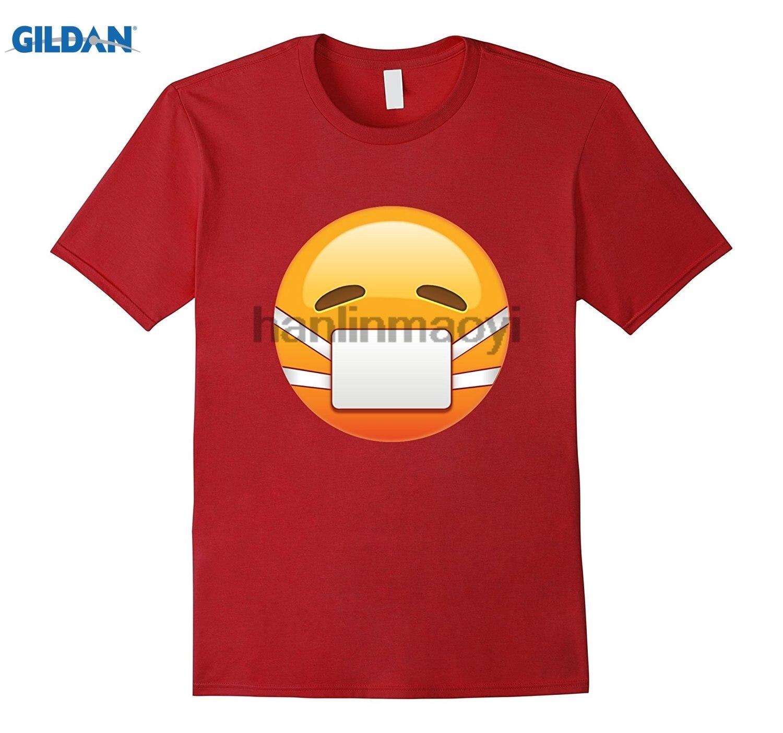 GILDAN Sick Mask Emoji T Shirt