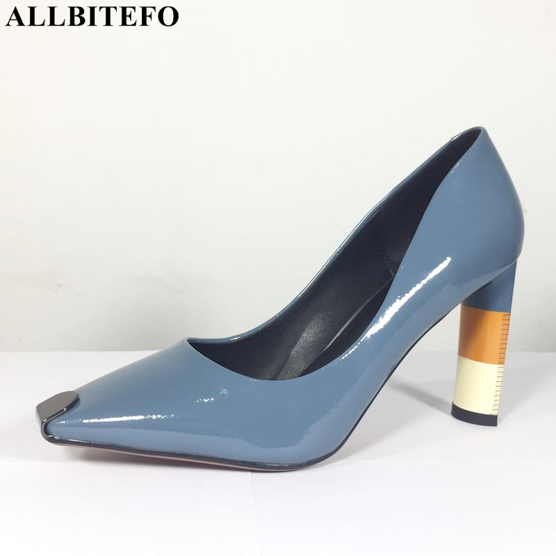 ALLBITEFO 2019 NEW brand fashion women high heel shoes colorful mixed color girls heels shoes women