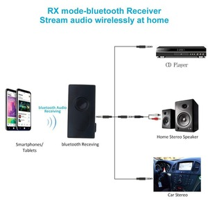 Image 4 - Kebidu 2 ב 1 Bluetooth משדר מקלט אלחוטי A2DP 3.5mm סטריאו אודיו מוסיקה מתאם עבור טלוויזיה DVD Mp3 מחשב שחור