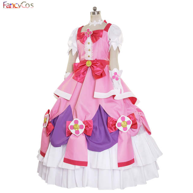 placeholder Halloween Women s Go! Princess PreCure Cure Flora Party Dress  Costume Cosplay adult costume movie High 924f136a2eaa