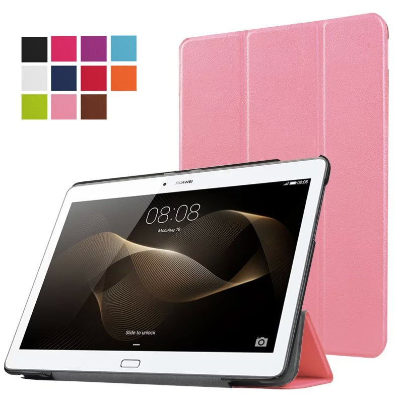 KST Magnet Flip Cover leather case For Huawei MediaPad M2 10.1 M2-A01W M2-A01L M2 10.0 10.1 Tablet Case Protective shell skin magnet flip cover for huawei mediapad m2 10 1 m2 a01w a01w tablet case pu leather case with hand holder and card slot