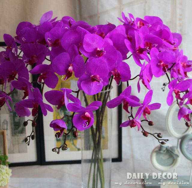 Orchideen Kopf 106 cm touch 9 kopf künstliche große schmetterling