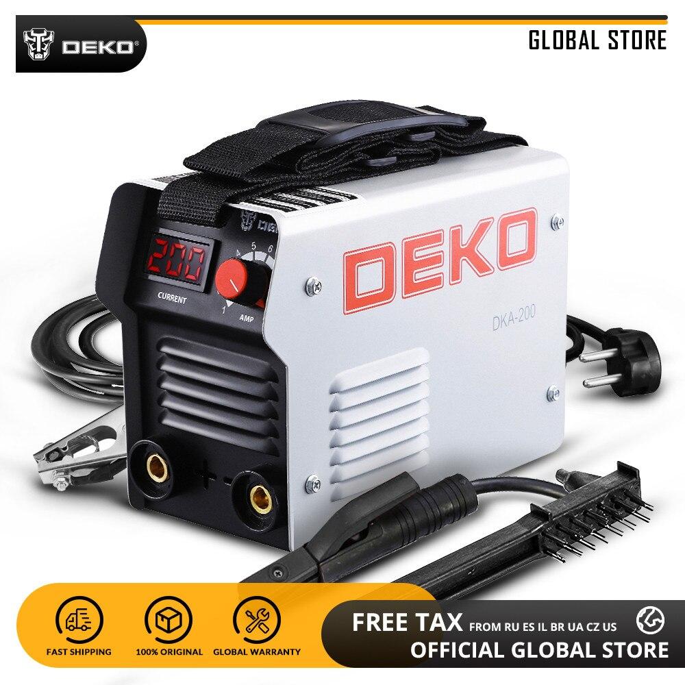 DEKO DKA Série DC Soldador ARCO Do Inversor IGBT 220 V MMA Máquina de Solda 120/160/200/250 amp para Casa Novato Leve Eficiente