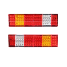 1 Pair Car LED Tail Lights Truck Taillight Stop Reverse Lamp for Mercedes Benz Scania 24V Trailer Lorry